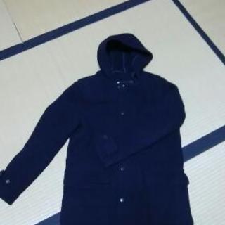 無印良品 紺色コート ウール