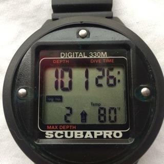 スキューバプロ デジタル式水深計