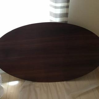 楕円形コタツテーブル コタツぶとん付き