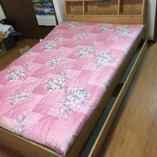 組立式畳ベッド(枕元照明、引出付き)