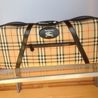 バーバリー テニスラケット型ボストンバッグ 英国直輸入生地使用