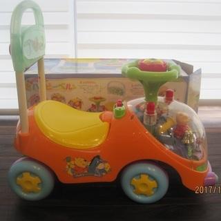 子供用の車のおもちゃ【くまのプーさんハッピーベル】差し上げます