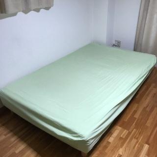セミダブル ベッド 脚付き マットレス 寝具
