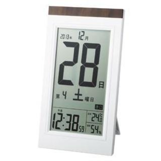 【新品未使用】デジタル日めくり電波時計