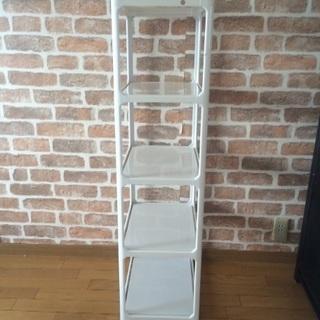 [家具]収納棚①(プラスチック:白色)