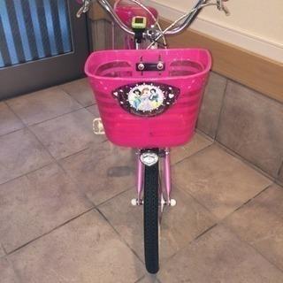 幼児用 ディズニープリンセスの自転車(16インチ)