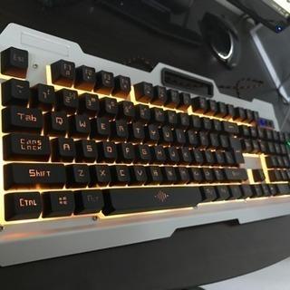 ゲーミングキーボード、マウス2点セット