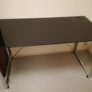IKEA 黒ガラステーブル<引取限定>