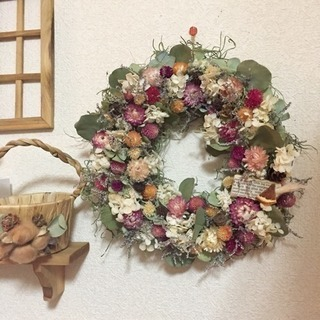 お花いっぱいキュートリース