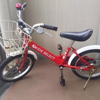 ☆子供用自転車16インチ☆赤☆補助輪あり☆