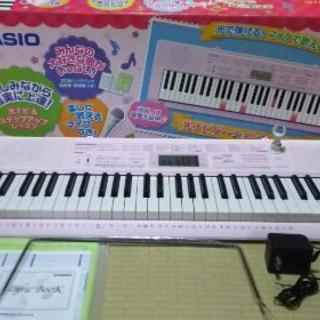 カシオ LK-115 光ナビゲーションキーボード(光で弾ける!マイ...