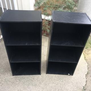 黒のカラーボックス  2個あります