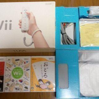 ※値下げ 初期型Wii本体+コントローラー1個+ソフト3本[中古・...