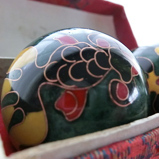 中国鉄球 健身球 金魚 50㎜ 中国伝統の健康トレーニング器具 リ...