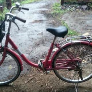 24インチ買い物用自転車  フルカバーチェーン