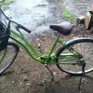 26インチライムグリーンの自転車