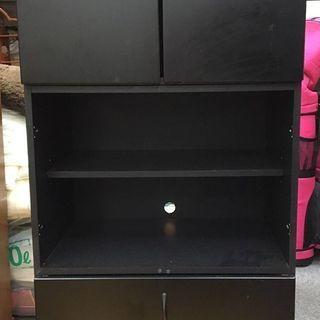 大塚家具 木製 収納ボックス ブラック 60.5cm×43cm×1...
