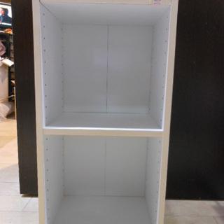 収納家具◆白 カラーボックス◆2段 ラック