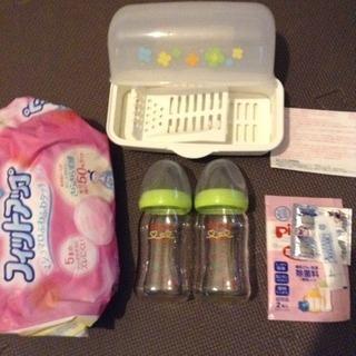 母乳実感 哺乳瓶 電子レンジ消毒器