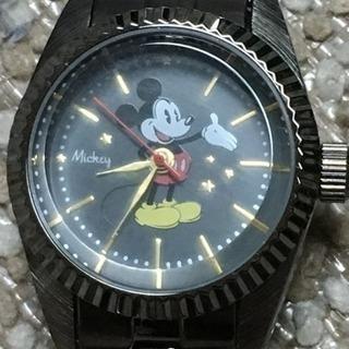 中 179 ミッキー ブラック レディースウォッチ 腕時計 MEDI