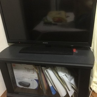 テレビ32インチ!テレビ台付き