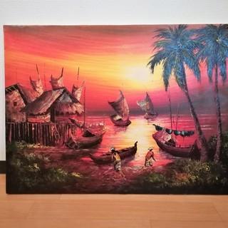 バリ島の油絵 海の絵