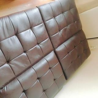 ベッド式ソファー ブラウン