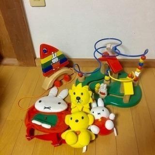 ミッフィーのビーズコースター&船(木製)