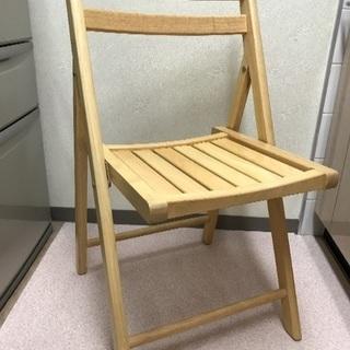 木製の折りたたみイス
