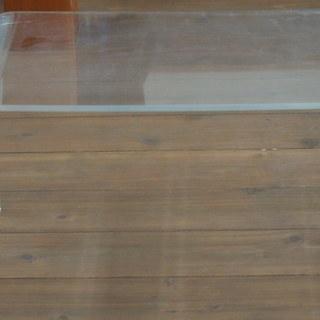 重厚なアクリル製テーブル★TV台&水槽台&観葉植物置き&サイドテー...