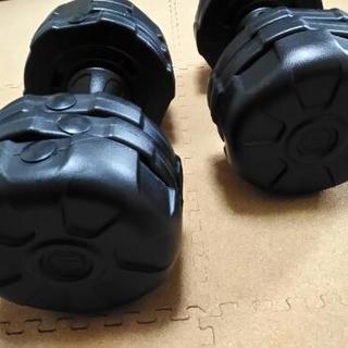 アーミーダンベル 10kg 2個セット ブラック