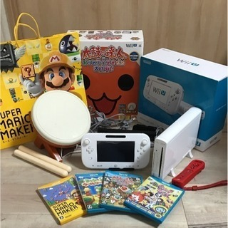 wii U 本体 リモコン ソフト4本 太鼓の達人専コン 箱付きセット