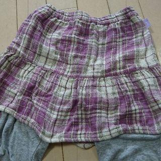 女の子120cm スパッツ付スカート