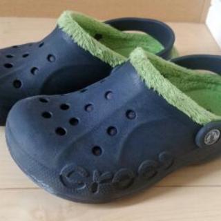 👟 crocs 19㌢ ボア付き 👟