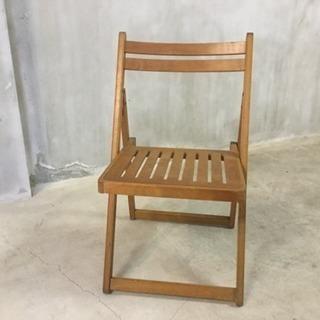 木製折り畳みチェアー