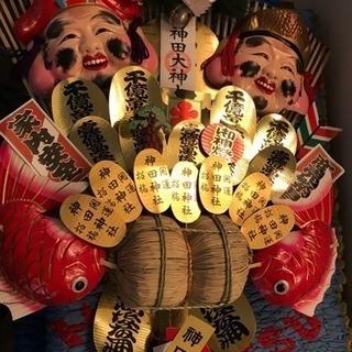 神田明神 豪華 熊手、10万円の品、高さ120cm、幅67cm、厚...