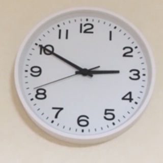 MUJI アナログ時計 掛時計 ホワイト 大