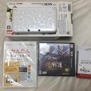 3DS LL(White)本体 モンスターハンター4 スペシャルパック