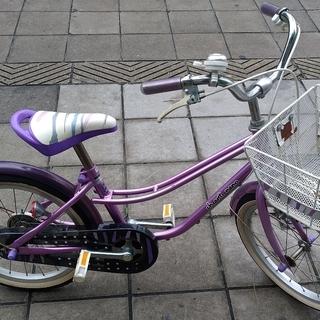 幼児用 自転車 18インチ アサヒサイクル キャンティナノ パープル