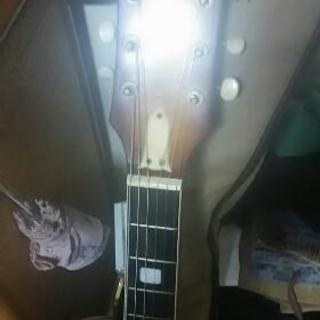 ナルダンのピックギターです。たぶん3弦までエレキギターの