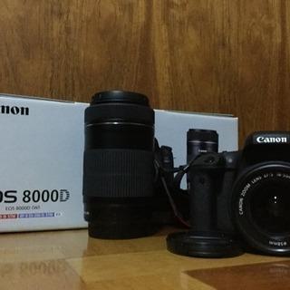 Canon 8000d ダブルズー...