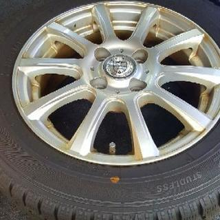 175/65R14スタッドレスタイヤ 14インチアルミホイール付 4本