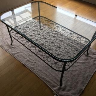 IKEA センターガラステーブル