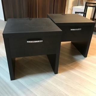 未使用 / ベッドサイドテーブル 2つ