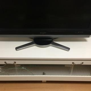 TVボード ガラス割れあり
