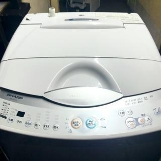 🌸大容量7Kg🌸美品無穴槽洗濯機🌺SHARP🌟即日配送🚗