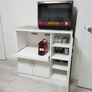 キッチンカウンター幅90センチ(電源つき)スライド収納 美品