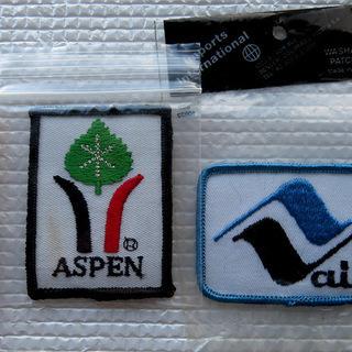 アメリカ2大人気スキー場の刺繍ワッペン