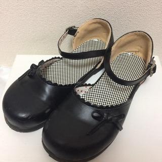 女児フォーマル靴黒 20.0cm