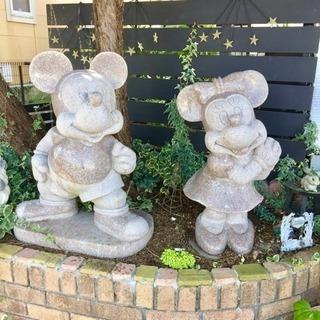 【引き取り希望】ミッキー&ミッキーの特大オブジェ